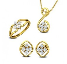 Diamond Pendant FullSet - 0.46 CT / 6.06 gm Gold