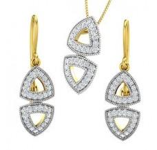 Diamond Pendant Half Set - 1.08 CT / 7.85 gm Gold