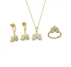 Diamond Pendant FullSet - 0.88 CT / 10.18 gm Gold