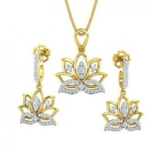 Diamond Pendant Half Set - 0.75 CT / 7.15 gm Gold