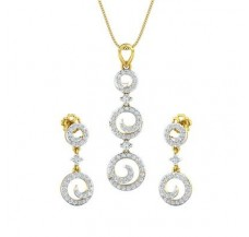 Diamond Pendant Half Set - 0.98 CT / 7.36 gm Gold