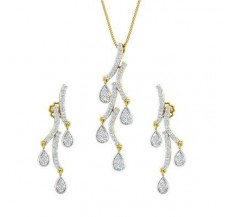 Diamond Pendant Half Set - 1.13 CT / 7.30 gm Gold