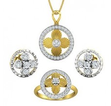 Diamond Pendant FullSet - 0.93 CT / 9.43 gm Gold