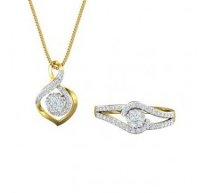 Diamond Pendant Half Set - 0.62 CT / 4.00 gm Gold