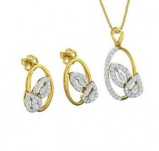 Diamond Pendant Half Set - 0.94 CT / 7.59 gm Gold