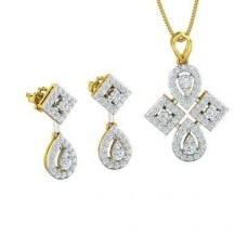 Diamond Pendant Half Set - 1.46 CT / 8.59 gm Gold