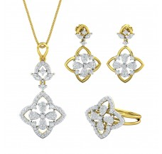 Diamond Pendant FullSet - 1.73 CT / 14.29 gm Gold
