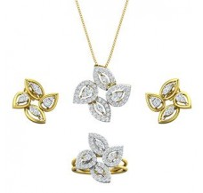Diamond Pendant FullSet - 1.62 CT / 11.79 gm Gold
