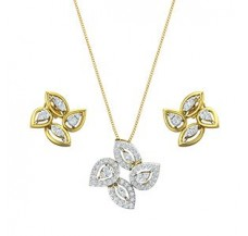 Diamond Pendant Half Set - 1.03 CT / 7.69 gm Gold