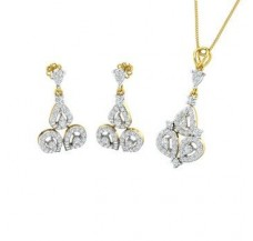 Diamond Pendant Half Set - 1.76 CT / 8.57 gm Gold