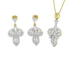 Diamond Pendant Half Set - 1.81 CT / 8.67 gm Gold