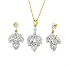 Diamond Pendant Half Set - 1.69 CT / 8.26 gm Gold