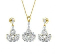 Diamond Pendant Half Set - 1.69 CT / 8.30 gm Gold