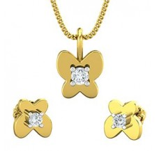 Diamond Pendant Half Set - 0.19 CT / 3.25 gm Gold