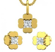 Diamond Pendant Half Set - 0.19 CT / 3.11 gm Gold