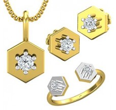 Diamond Pendant FullSet - 0.32 CT / 5.25 gm Gold