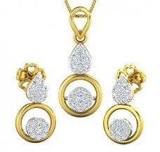 Diamond Pendant Half Set - 0.39 CT / 4.06 gm Gold