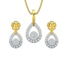 Diamond Pendant Half Set - 0.61 CT / 4.32 gm Gold