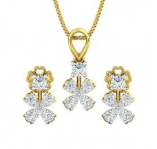 Diamond Pendant Half Set - 0.59 CT / 3.36 gm Gold