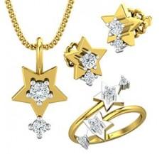 Diamond Pendant FullSet - 0.45 CT / 6.10 gm Gold