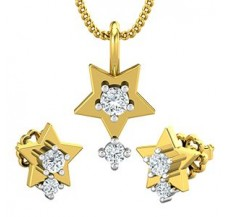 Diamond Pendant Half Set - 0.27 CT / 3.25 gm Gold