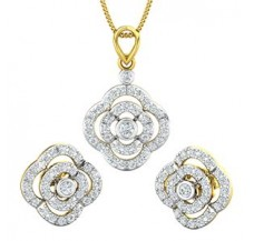 Natural Diamond Pendant Half Set - 1.53 CT / 6.33 gm Gold