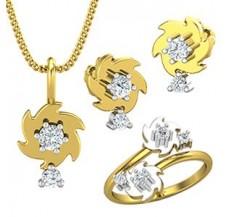 Diamond Pendant FullSet - 0.45 CT / 6.25 gm Gold