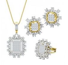 Diamond Pendant FullSet - 3.68 CT / 16.77 gm Gold