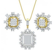 Natural Diamond Pendant Half Set - 2.26 CT / 9.50 gm Gold