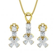 Diamond Pendant Half Set - 0.74 CT / 3.21 gm Gold