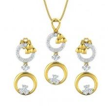 Diamond Pendant Half Set - 0.91 CT / 5.34 gm Gold