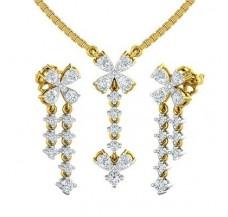 Diamond Pendant Half Set - 1.00 CT / 4.57 gm Gold
