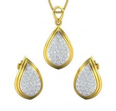 Diamond Pendant Half Set - 0.77 CT / 4.82 gm Gold
