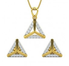 Diamond Pendant Half Set - 0.67 CT / 4.22 gm Gold