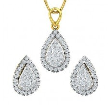 Diamond Pendant Half Set - 1.32 CT / 5.50 gm Gold