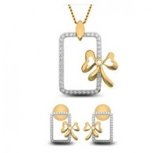 Natural Diamond Pendant Half Set - 0.49 CT / 6.80 gm Gold