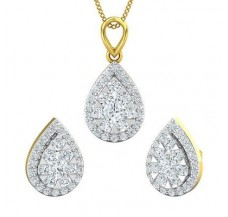 Diamond Pendant Half Set - 1.27 CT / 6.95 gm Gold