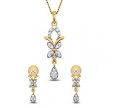 Natural Diamond Pendant Half Set - 0.45 CT / 3.75 gm Gold