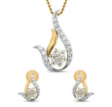 Natural Diamond Pendant Half Set - 0.51 CT / 3.65 gm Gold