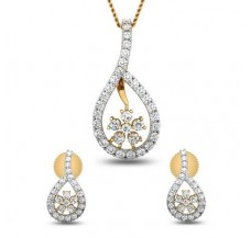 Diamond Pendant Half Set - 1.24 CT / 3.75 gm Gold