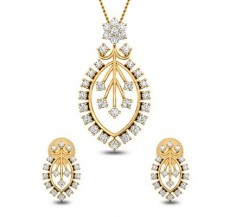 Natural Diamond Pendant  Half Set - 1.51 CT / 6.75 gm Gold