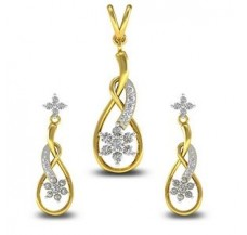 Diamond Pendant Half Set - 0.45 CT / 5.50 gm Gold