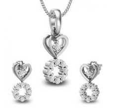 Diamond Pendant Set - Half Set - 0.55 CT / 4.30 gm Gold