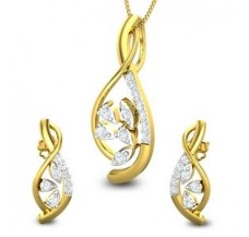 Diamond Pendant Half Set - 0.64 CT / 6.17 gm Gold