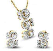 Natural Diamond Pendant Half Set - 1.50 CT / 7.22 gm Gold