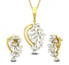 Natural Diamond Pendant Half Set - 0.72 CT / 5.41 gm Gold