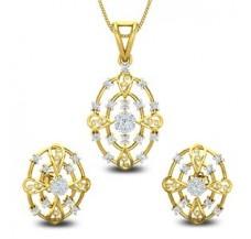 Diamond Pendant Half Set - 0.82 CT / 7.29 gm Gold