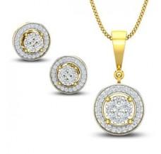 Diamond Pendant Half Set - 0.84 CT / 5.65 gm Gold