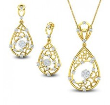 Diamond Pendant Half Set - 0.94 CT / 8.00 gm Gold
