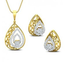 Diamond Pendant Half Set - 0.99 CT / 6.60 gm Gold